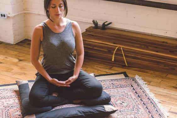 Cuscino per sgabello da meditazione blu sport e tempo libero