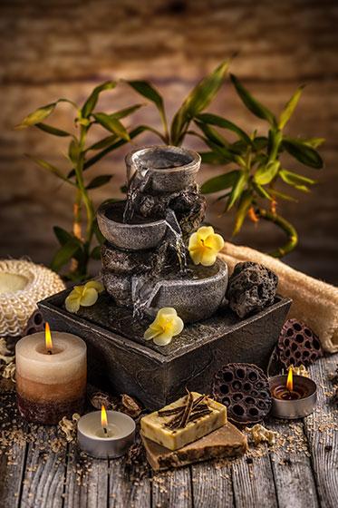 Fontana zen fontana da tavolo con cascate duacqua su - Fontana zen da tavolo ...