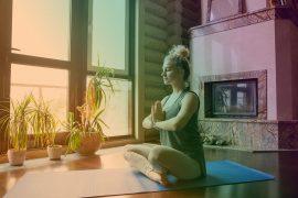 stanza meditazione yoga colori