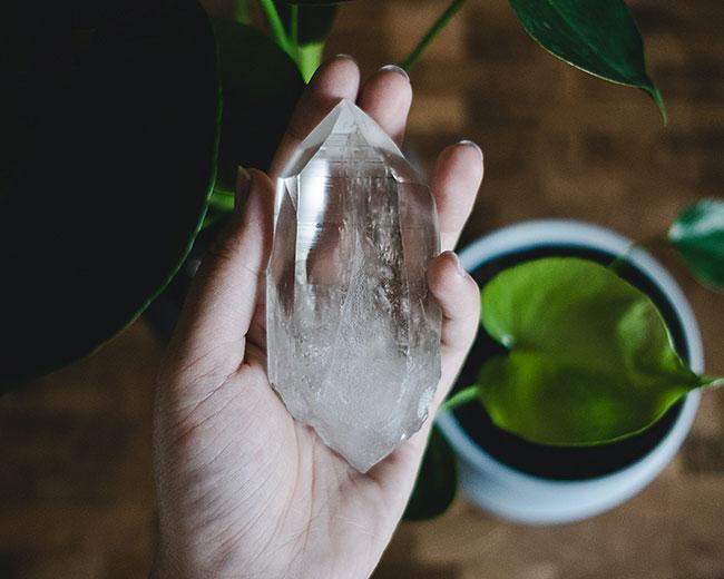 meditare con i cristalli
